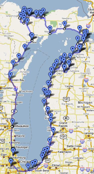 Lake Michigan Circle Tour Motorcycle - Lake michigan circle tour map